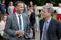 Staatsrat Christoph Holstein und Ralf Lange, 2. Vors. Sport