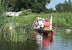 4er Ruderboot auf Wanderfahrt