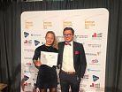 Wahl Sporttalent 2019, Charlotte Moritz mit Trainer Nando Schmidt